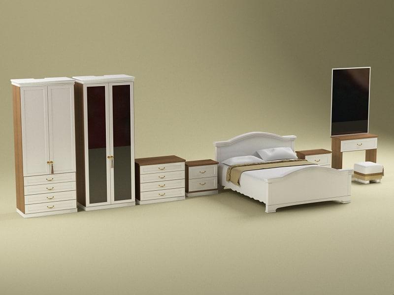3ds max bedroom furniture