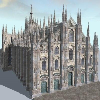 Duomo Milano Milan 3d Model