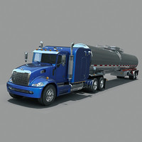 Semi Truck  with  tank trailer