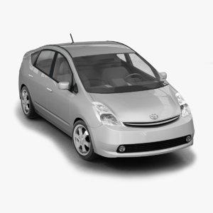2005 toyota prius 3d model