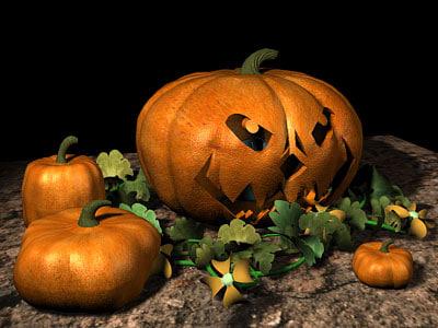 pumpkins vines 3d model