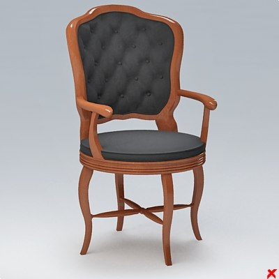 3d chair old fashioned model