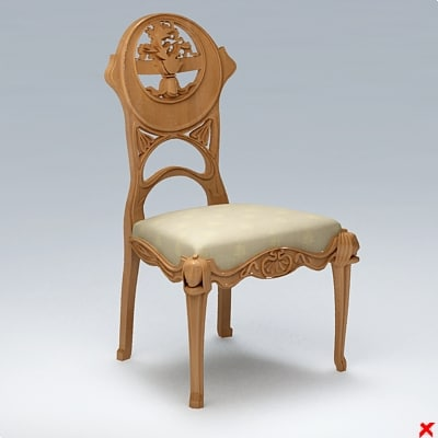 3ds chair old fashioned