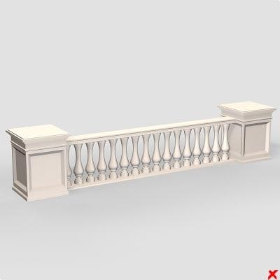 balustrade fence dxf