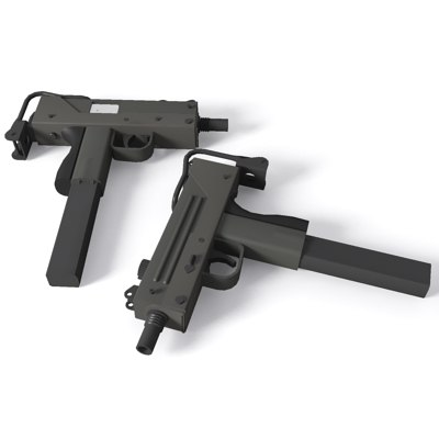 mac-10 machine pistol 3d 3ds
