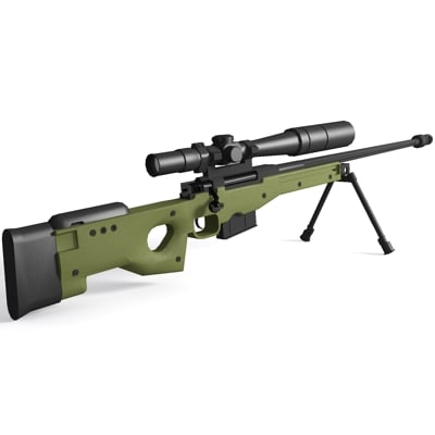 accuracy international rifle 3d model