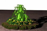 3d clivia floral model