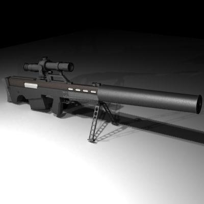 vssk vychlop rifle sniper 3d model