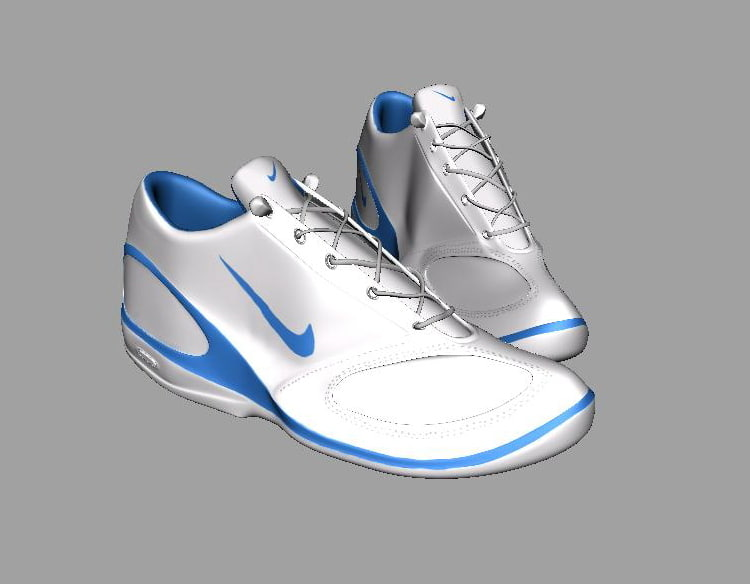 tennis shoes 3d model