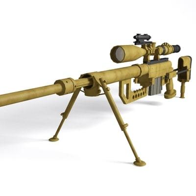 cheytac m-200 rifle sniper 3d model