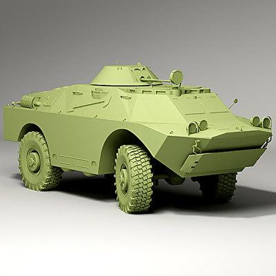 3d brdm - 2 btr-40p-2 model