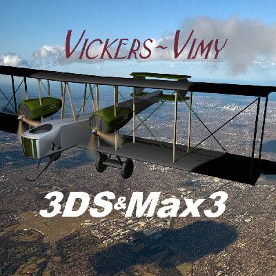 vickers vimy 3d model