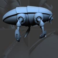 3d tiny nanite drone model