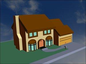 simpson house 3ds