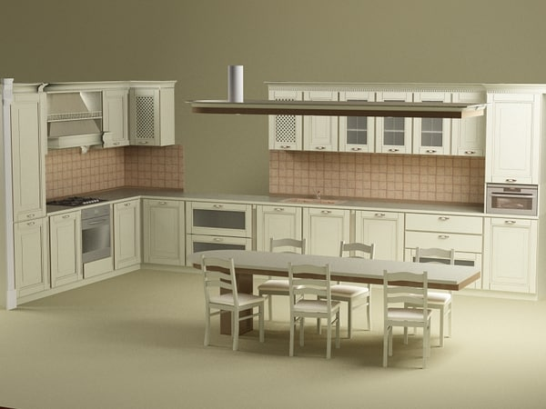 3ds max kitchen bonet