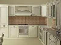 3ds max kitchen bonet
