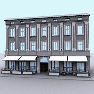 3dsmax building shop restaurant