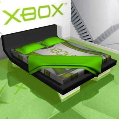 bed xbox 3d max