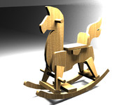 horse toy children 3d model