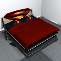 bed superman 3d model