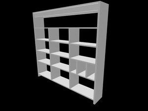bookshilf 3d model