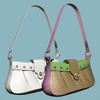 3d model handbag leather fashioned