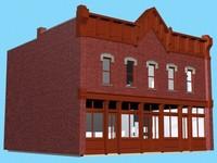 town building 3d max