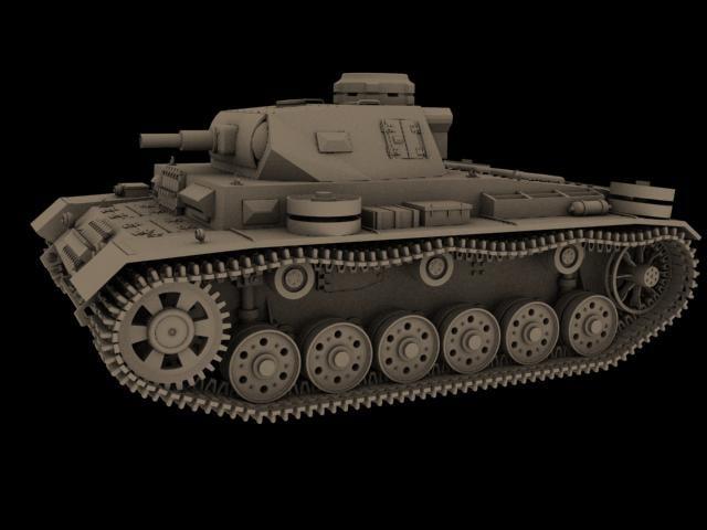 3ds max panzerkampfwagen iii panzer tank