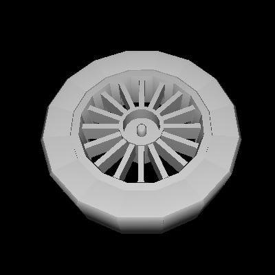free buggy wheel 3d model