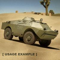 brdm btr-40p-2 btr 3d model