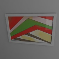 3d painting frame image model