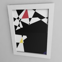 3d painting frame image