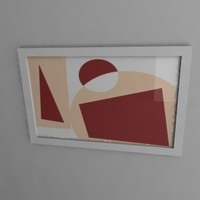 painting frame image 3d lwo