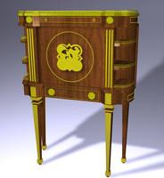 3d antique writing desk