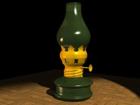 indian oil lamp 3d model
