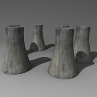industry chimney 3d model