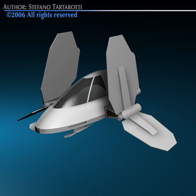 3d small spaceship model