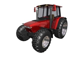 3d vehicle tractor