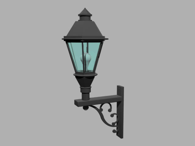 exterior wall lamp 3ds