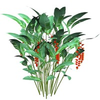 3d heliconia rostrata