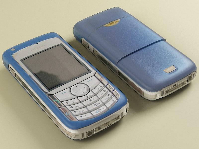 nokia 6681 modelled 3d max