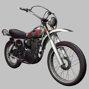 yamaha xt500 enduro 3d model