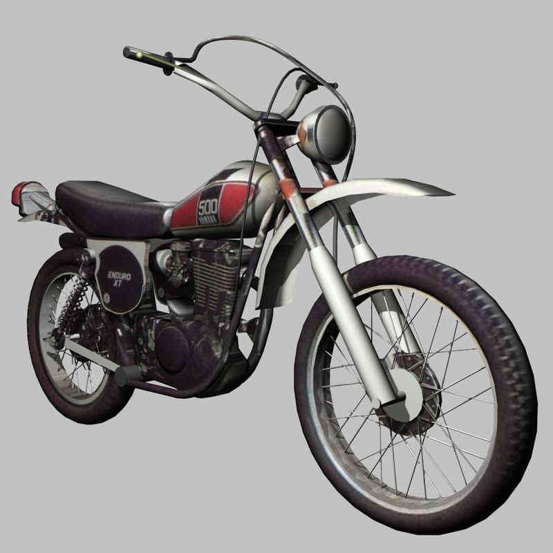 yamaha xt500 enduro 3d model