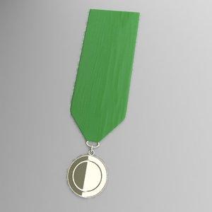 3d embleme medal model