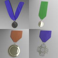 embleme medal 3d 3ds
