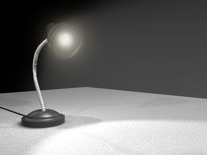 3d lamp bulb