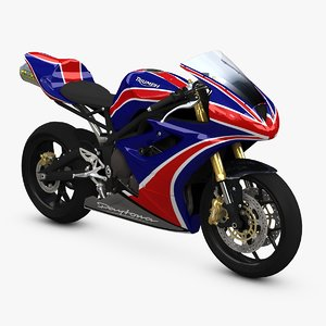 3d model daytona 675 triumph bikes