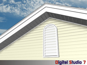 3ds max arched louver
