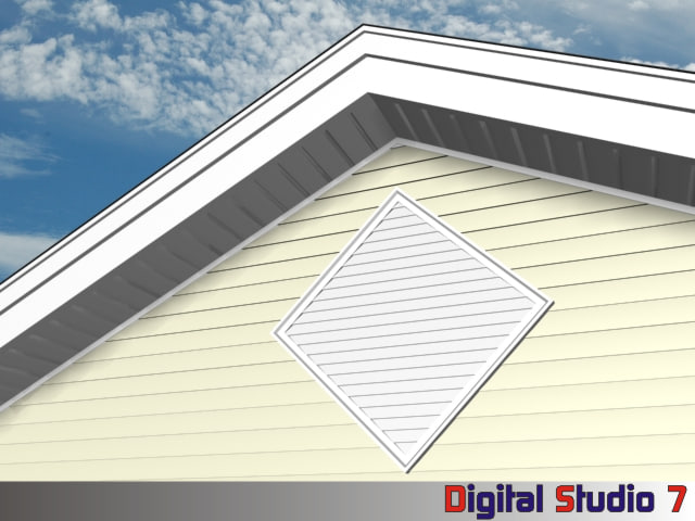 3d diamond louver model