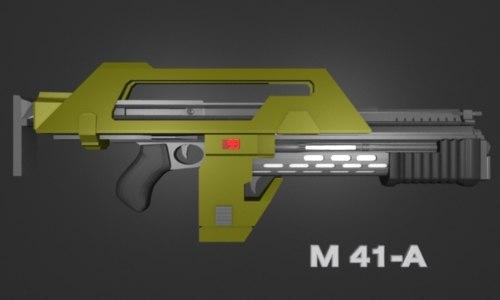 free aliens m41-a 3d model